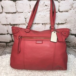 Coach Coral Daisy Leather Emma Tote Bag